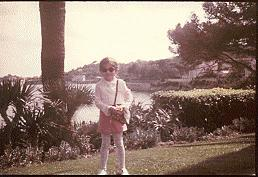 Karina as a child on the French Riviera, 1970